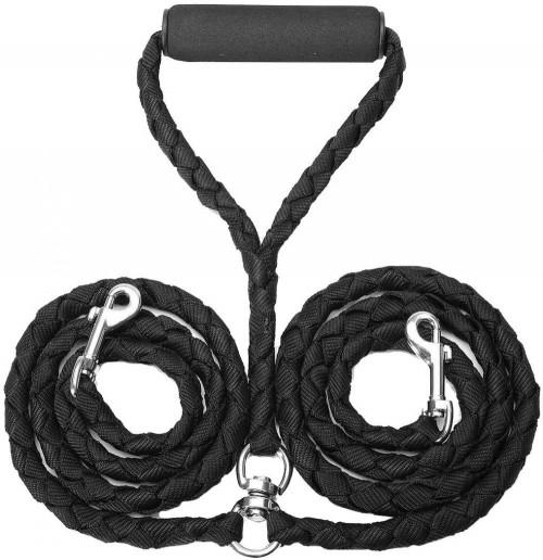 Dual Double Dog Leash 140cm No Tangle Coupler Buffer Leash For Two